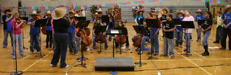 Beginning Orchestra's First performance
