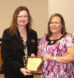 L-R Cathy Drew & Tammy Curtis(Areawide Media – Wilson Powell Media Support Award)