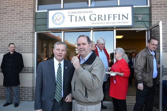 Congressman Tim Griffin and Bob Connell at the Grand Opening of Conway Office