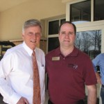 Governor Mike Beebe and Bob Connell take time out for a picture before broadcasting