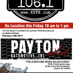 Timeless 106.1 KFFB on Location at Payton Select in Heber Springs Friday February 10