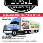 Timeless 106.1 KFFB Broadcasting Live Friday June 2nd 10a-1p at F.L. Davis in Greers Ferry