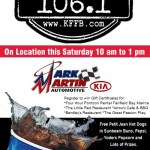Join Bob Connell with Timeless 106.1 KFFB and Jeff Zelasko with Mark Martin KIA in Batesville Saturday