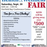 The Timeless 106.1 KFFB Regional Health and Wellness Fair, this Saturday, September 30th