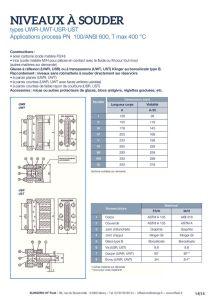 thumbnail of KLINGER INDICATEURS DE NIVEAU-fiche technique-application process niveaux 19