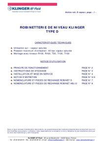 thumbnail of KLINGER INDICATEURS DE NIVEAU-insttruction de montage 10