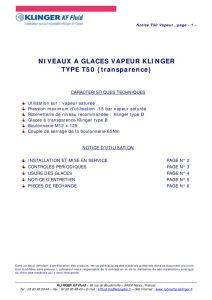 thumbnail of KLINGER INDICATEURS DE NIVEAU-insttruction de montage 4