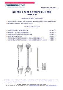 thumbnail of KLINGER INDICATEURS DE NIVEAU-insttruction de montage-application process 14