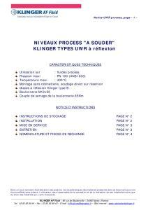 thumbnail of KLINGER INDICATEURS DE NIVEAU-insttruction de montage-application process 21