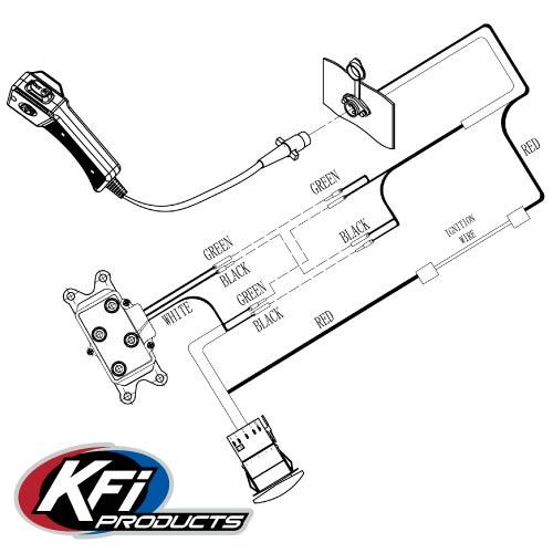 dash rocker switch kit  kfi atv winch mounts and accessories