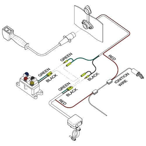 minirocker handlebar switch  kfi atv winch mounts and