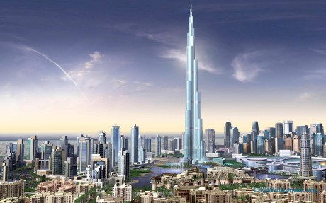 burj-khalifa-view-with-other-towers-of-dubai