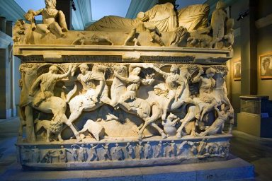 turkey-istanbul-sarcophagi-bas-relief-archaeological-museum