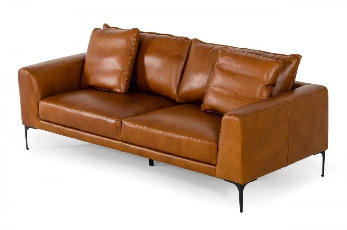 Gray 2 seater leather sofa. Jacoba Modern Cognac Leather Sofa | KFROOMS | Free Delivery