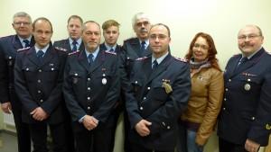 Von links: Stefan Dehmel, Michael Kuhn, Frank Kükemück, Matthias Hagemann, Max Voss, Richard Grimm, Andreas Schedler, Barbara Burmeister, Volker Prüsse