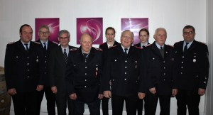 Von links: Frank Lindhorst, Willi Lucan, Rainer Prokop, Friedhelm Peters, Mareike Rabe, Michael Gyüker, Patrizia Lindhorst, Albert Rieckmann und André Sonntag
