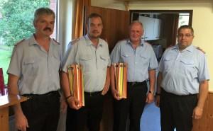 Bild v.l.: Michael Sander, Ralf Siemsglüß, Georg-Wilhelm Thies und André Sonntag