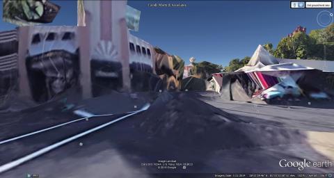 A street corner in Disney's Hollywood Studios