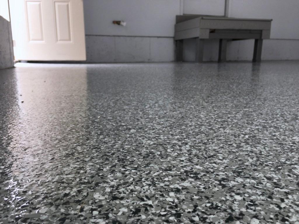 2 Car Garage Platinum Granite Epoxy Coating