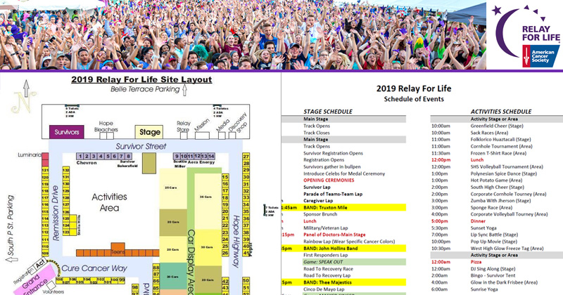 Map 4 Life.2019 Relay For Life Info