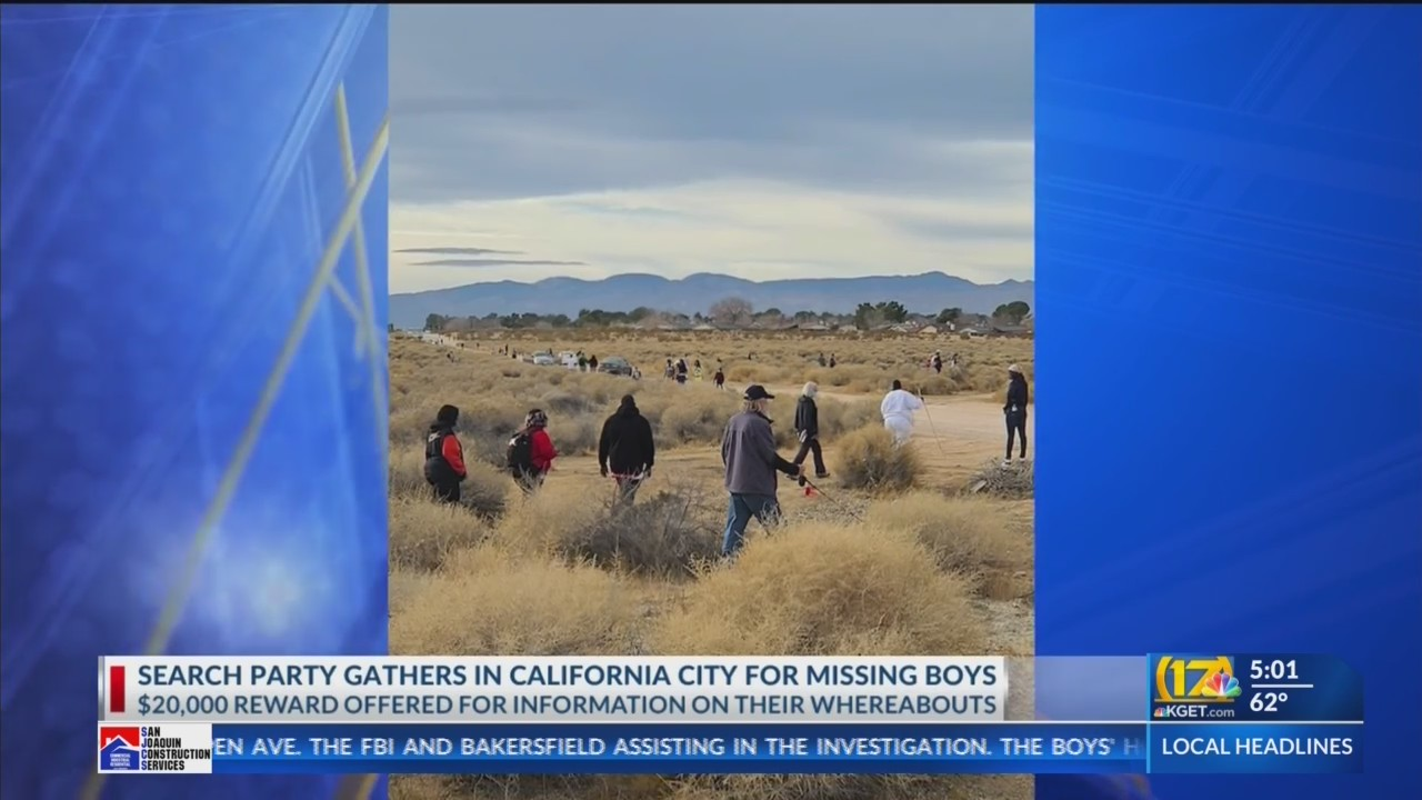 California City search party find items that may be related to missing boys Orrin and Orson West (video)