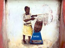 Dagbe Center mural drummer