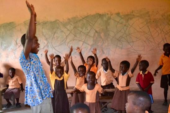Mensah teaches Kindergarten