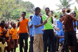 KOBLAS School Brass Band performing, 2013