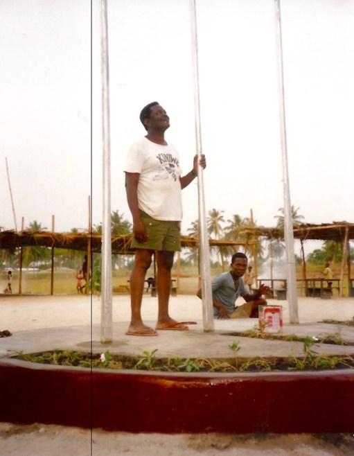 Godwin at the flagpole area