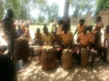 Kopeyia School Cultural Troupe rehearsing