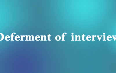 Deferment of interview for the post of Lecturer/Sr. Lecturer – Simulation Lab