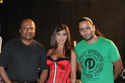 Mr . Mathew Mathai Sony and Mr. Hady Hajjar Rotana with Najwa Karam