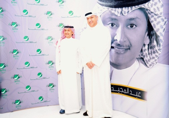 Mr Salem & Artist AbdulMajeed Abdullah- backdrop