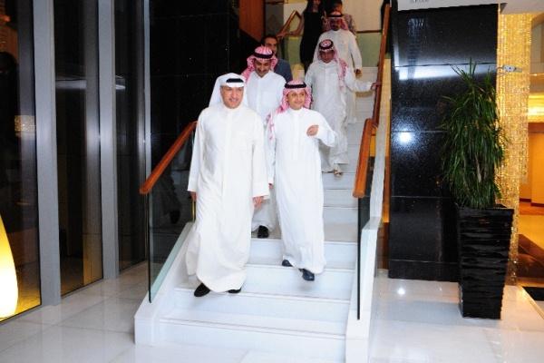 Mr Salem & Artist AbdulMajeed Abdullah upon arrival