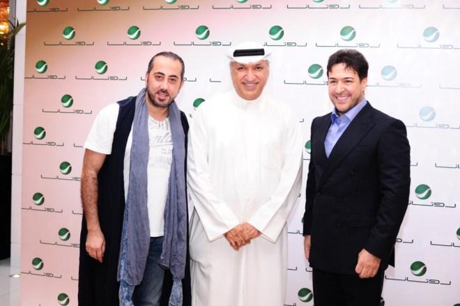 Mr Salem with Rida AlAbdallah (right) & Bilal Zibara