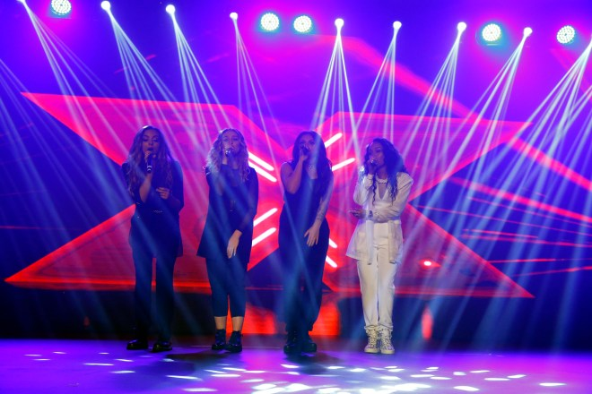 (6) MBC4 & MBC MASR - The X Factor Launch Press Conference- Little Mix performance