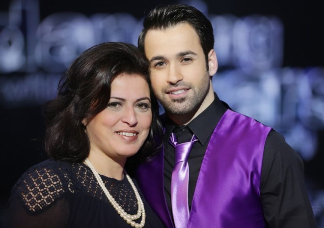 Anthony Touma with his mother