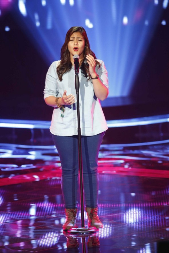 MBC1 & MBC MASR the Voice S3 - Blind 3 - Kadim's team - Manar Al Chazli