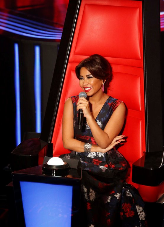 MBC1 & MBC MASR the Voice S3 - Live 1 - Press conference - Chirine Abdelwahab