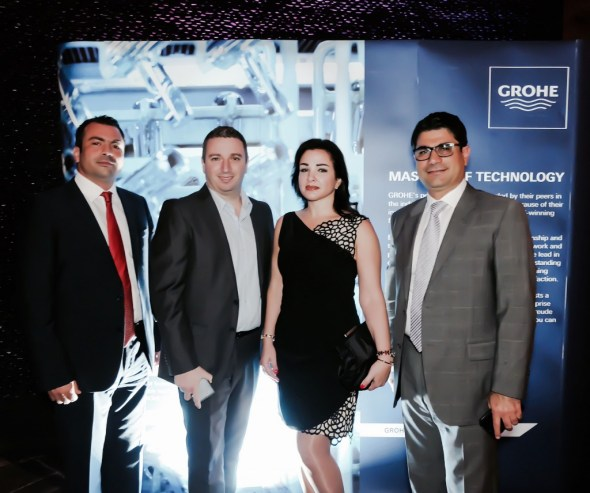 AUD team (middle) with GROHE Projects Director Firas Ibrahim (left) and General Manager Simon Shaya (right)