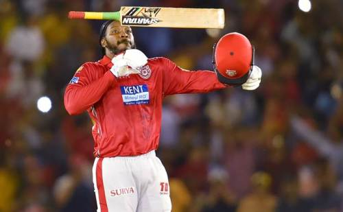 आईपीएल में फिर एक बार गेल की  विस्फोटक बल्लेबाजी ने रोका हैदराबाद हुआ धराशाही