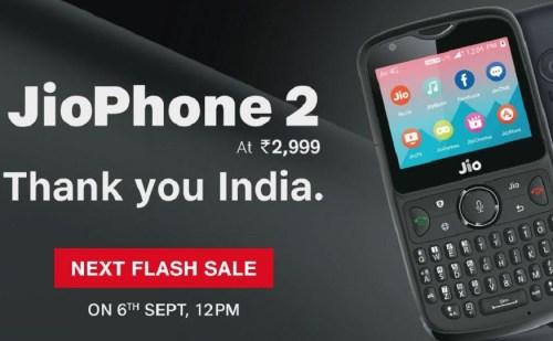 रिलायंस जियो के फोन JioPhone 2 की तीसरी सेल आज रात से शुरू