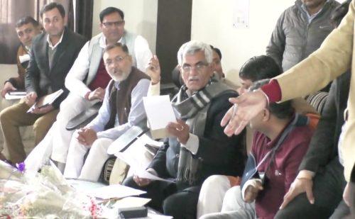 पूर्व मंत्री मनीष ग्रोवर पहुंचे पानीपत, कार्यकर्ताओं के साथ की बैठक