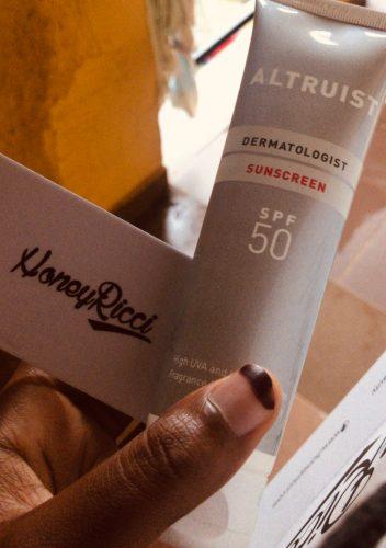 altruist-sunscreen-review-unboxing-affordable-sunscreens-nigeria-honeyricci-khairahscorner
