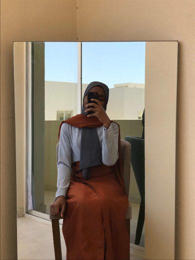 wear skirts with dresses wrap skirt dress blogpost khairahscorner burnt orange grey