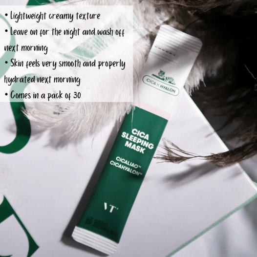cica hyalon sleeping masks blogpost khairahscorner youtube channel