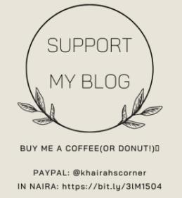 support khairahscorner buy me a coffee