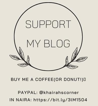 support my blog khairahscorner