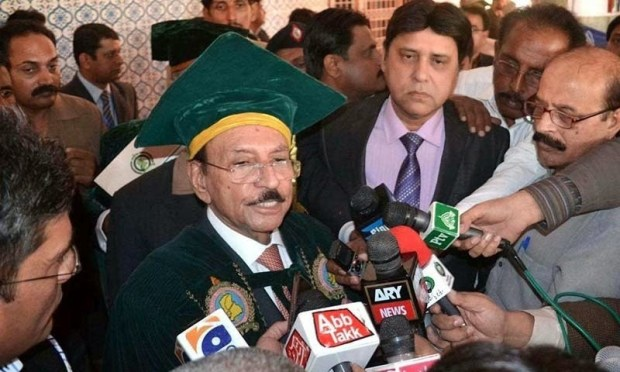 CM of Sindh Qaim Ali Shah gets Ph.D from Shah Abdul Latif University, Khairpur.