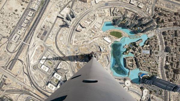 Ariel view of Burj Khalifa, Tallest building in the world